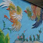 طراحی نقاشی و خرده کاشی  ققنوس و طاووس خیابان امام رضا(ع) جنب کلانتری ۱۱+عکس