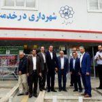 بازدید رئیس، اعضای شورای شهر و شهردار آمل از شهرداری مشهد