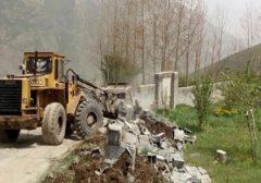 تخریب واحد های مسکونی غیر مجاز در لاریجان