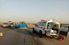 حادثه سقوط خودرو با ۵ کشته ومصدوم در محور هراز