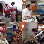 بهره مندی شهروندان از خدمات امدادی هلال احمر آمل در روز طبیعت