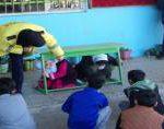 گزارش تصویری آموزش ایمنی در برابر زلزله دانش آموزان مدرسه شهید فاضلی شهر دابودشت