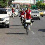 گرامیداشت خاطره شهدای آتش نشان توسط دوچرخه سواران آملی