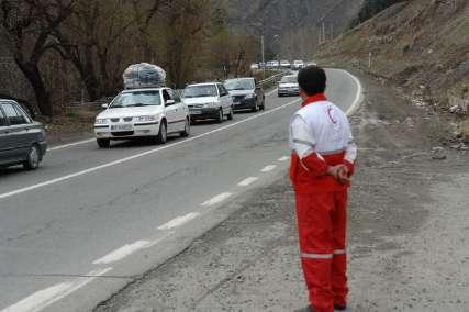 یک کشته در نتیجه ریزش سنگ در جاده هراز