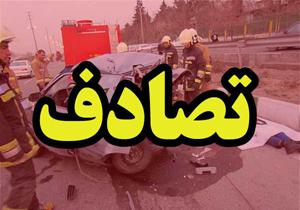۲ کشته در تصادف کامیون با ۳ خودرو در محور هراز