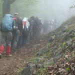 به مناسبت روز زمین پاک صورت گرفت؛صعود هیات کوهنوردی آمل به ارتفاعات گنگرج کلا