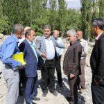 بازدید از منطقه های سیل زده لاریجان آمل توسط مسئولین شهری