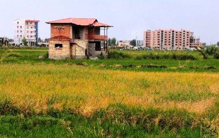 تخریب ویلا های غیرمجاز در لاریجان آمل